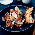 pop-open clams with horseradish-tabasco sauce
