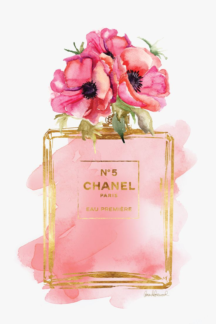 Chanel poster Red Poppies Chanel art print Chanel by hellomrmoon