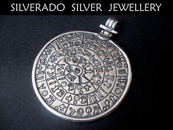 157 best silverado greek pendants images on pinterest greek sterling silver 925 ancient greek minoan phaistos disc big pendant 50 mm audiocablefo