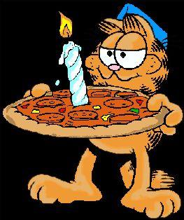 GARFIELD'S BIRTHDAY PIZZA