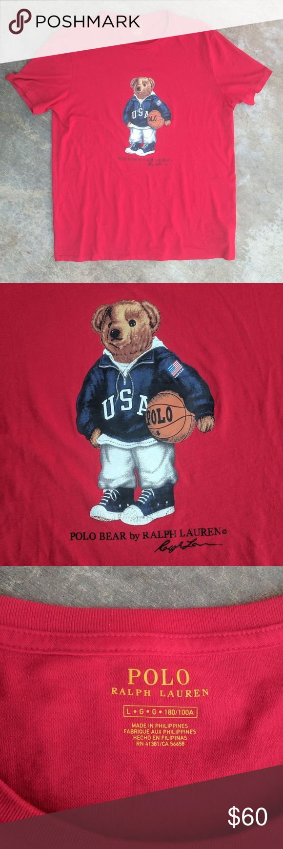 Basketball Polo Bear t-shirt Basketball Polo Bear t-shirt Size L  #polo #ralphlauren #polobear #basketball #nba #usa #america #polosport #polojeanco #tommyhilfiger #tommygirl #tommyjeans #guessjeans #supreme #palace #bape #nike #adidas Polo by Ralph Lauren Shirts Tees - Short Sleeve