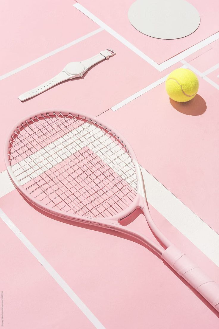 Abstract Tennis Themed Background By Audrey Shtecinjo For Stocksy United Tennis Art Tennis Wallpaper Pink Aesthetic