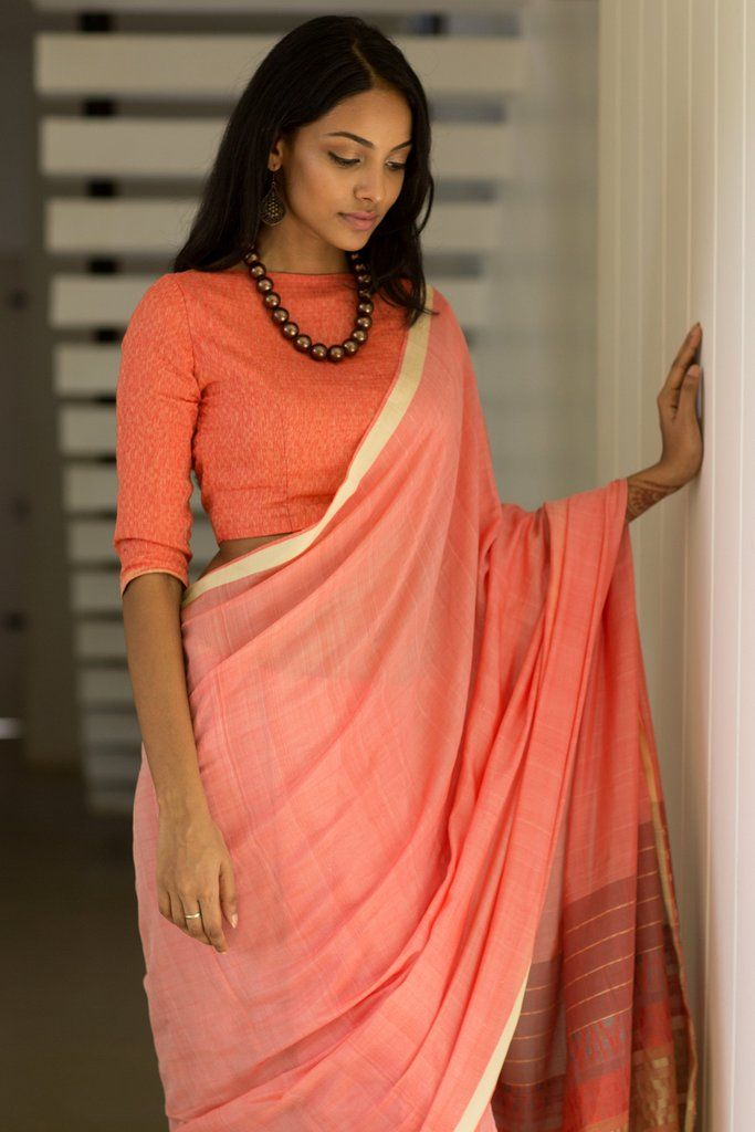 This crimson shade silk drape will make you look slim for that ideal morning occasion.