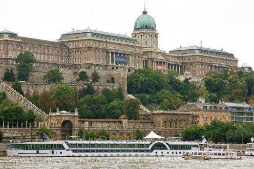 Buda Castle & Royal Palace situated atop Castle Hill