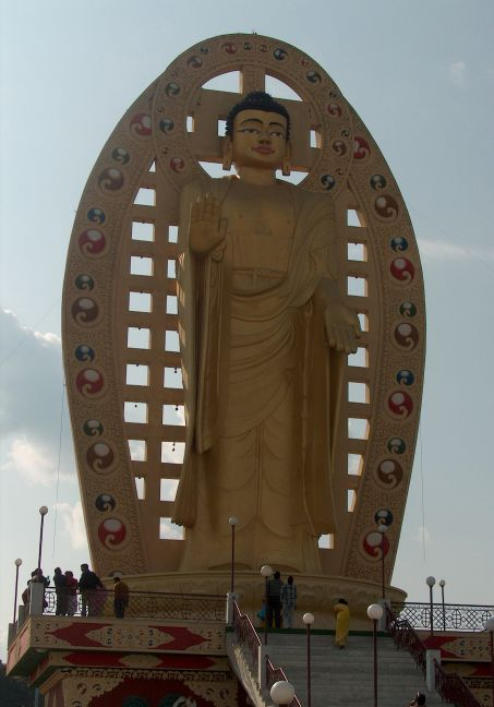 Statue of Buddha in Dehra Dun, India.