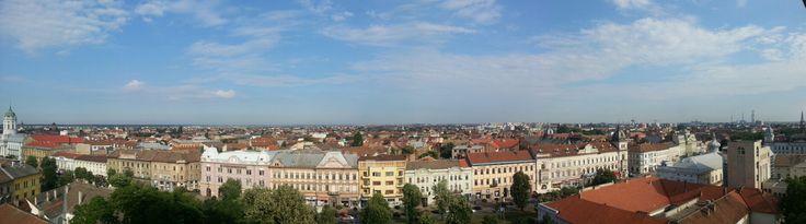 Panorama de la ultimul etaj al hotelului Continental Forum Arad :)