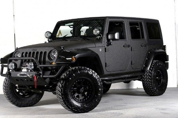 Custom Jeep Wrangler Unlimited with Kelvar Paint