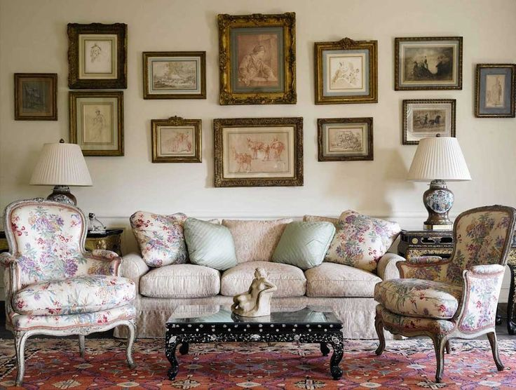 French Furniture Interior Design with french country living room