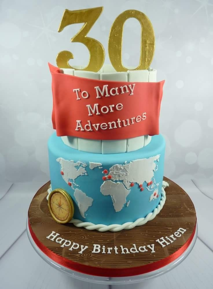 Awe Inspiring Travel Themed Birthday Cake 30Th Birthday Cake For Her 21St Birthday Cards Printable Opercafe Filternl