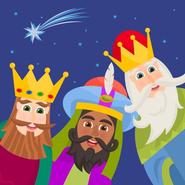 Los Tres Reyes Magos Vector Premium Free Vector Freepik Freevector Freenavidad Freetarjeta Navi Reyes Magos Animados Reyes Magos Dibujos Tres Reyes Magos