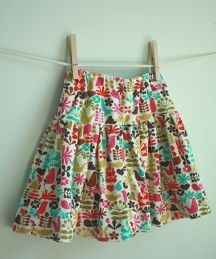 FREE pattern .. girls skirt with built in shorts