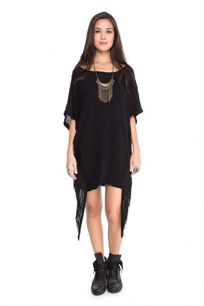 vestido franjas laterais - Vestidos | Dress to