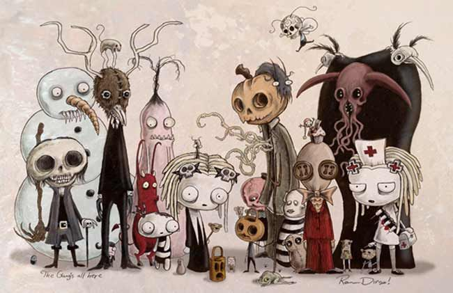Lenore characters by one of my faves, Roman Dirge!
