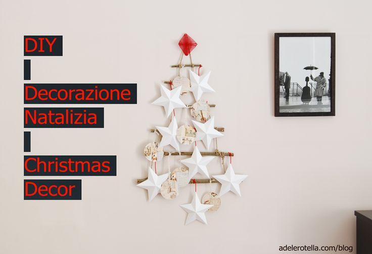 Questa settimana ho dedicato il mio tempo libero alla creazione di questa semplice decorazione natalizia che appenderò alla mia porta l'8 dicembre, per dire benvenuto agli ospiti e alle imminenti giornate festive!