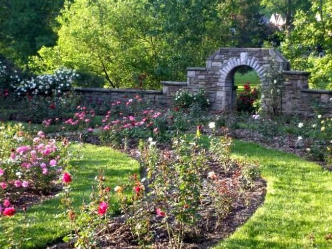 A Path to the Rose Garden, Ritter Park, Huntington, West Virginia