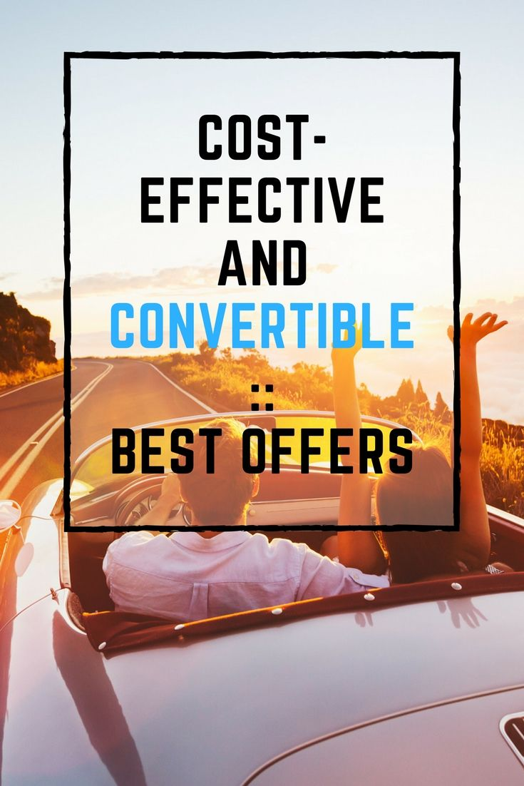 Cost-effective and Convertible :: Best Offers | #convertible #cabrio #cabriolet #bestoffers #bestprice #rent #travel #summer #italy #spain
