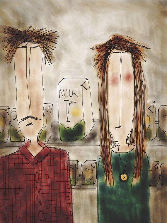 TIPLERS' MILK Illustration Print. by ekinakis on Etsy, €15.00