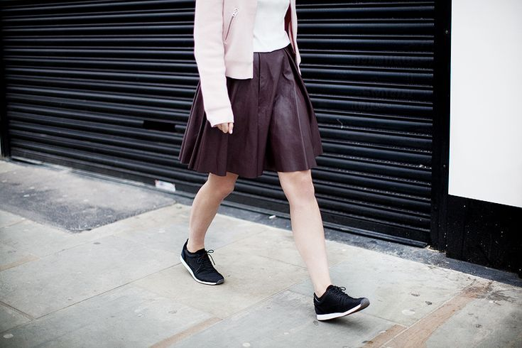 Peridot London Leather skirt   Girl a la Mode