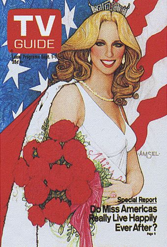 His TV Guide Cover #16: Miss America, September 1, 1979, illustrated by Richard Amsel