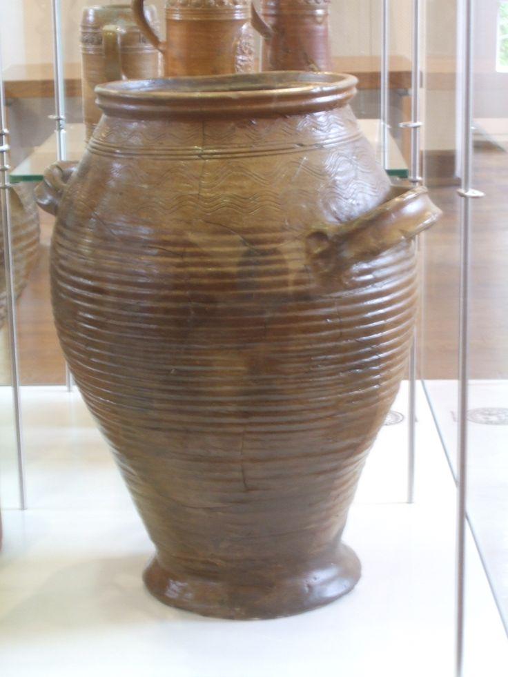 """Baare"" 17th Century Saltglazed Stoneware. Langerwehe/Raeren Collection: Töpferei Museum Burg Raeren, Belgium."