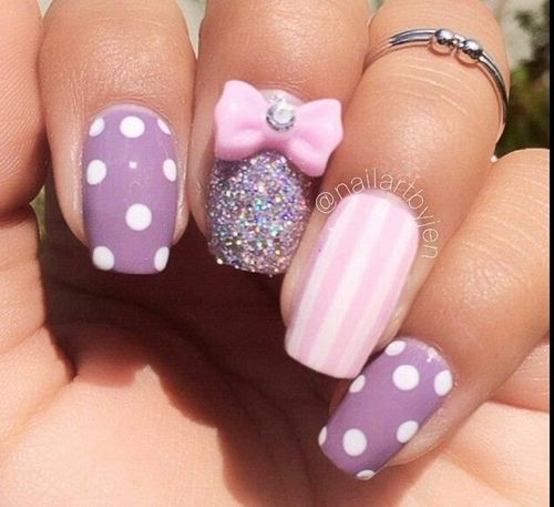 Fab polka dot nails and nail art inspirations