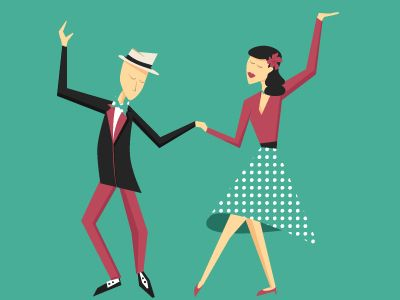 Dribbble - Lindy Hop Dance by Magdalena