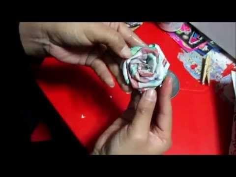 tutorial: ROSA de PAPEL PERIODICO ♥.♥ - YouTube