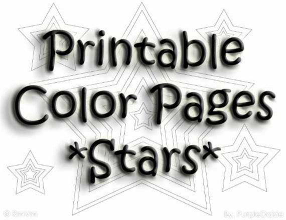 Stars Printable Coloring Book Digital Patriotic Stars