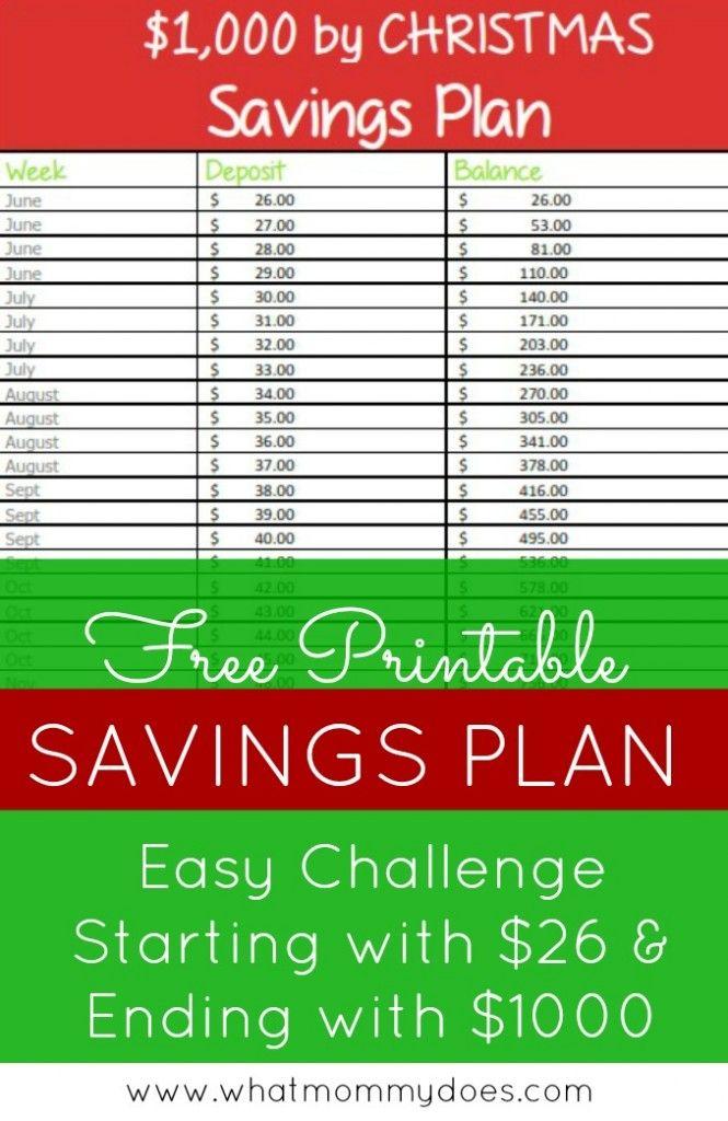 1000 by Christmas Savings Plan