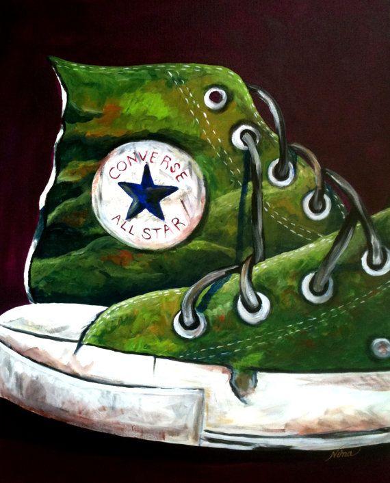 Converse All Star Acrylic painting    -- ninaswindow