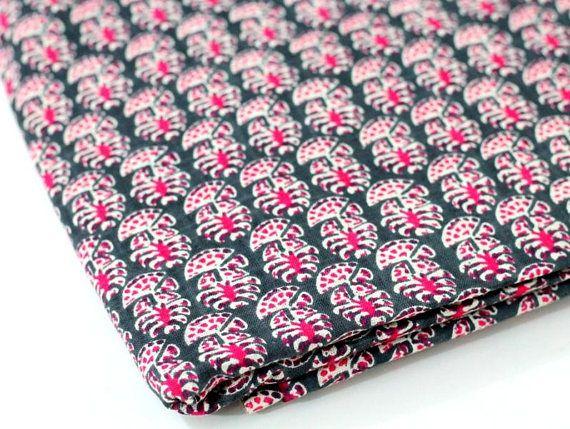 Block printed linen fabric #indianfabric #blockprint #dressmaterial https://www.etsy.com/listing/547592564/pink-grey-block-printed-linen-indian