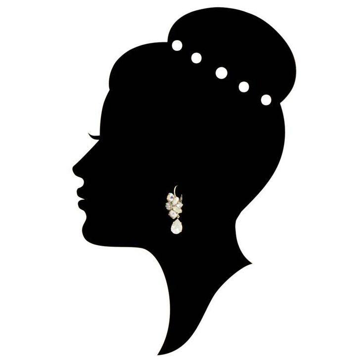 Moliere Paris Witte oorbellen met Swarovski kristallen en parel