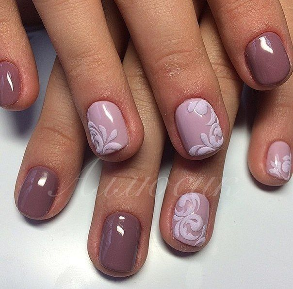 3d nails, Acrylic nails, Cool nails, Fashionable nails trends 2016, Nails with acrylic powder, Nails with ornament, Pattern nails, Two-color nails