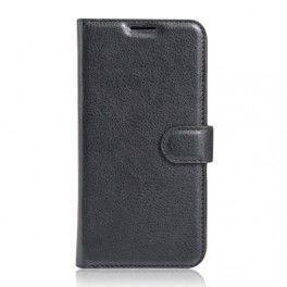 Huawei P9 Lite musta puhelinlompakko.