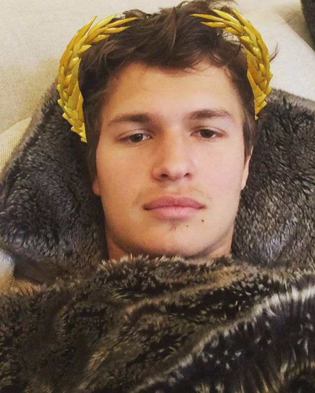 Pin for Later: These Celebrity Snapchat Accounts Are So Hot They May Actually Steam Up Your Phone Screen Ansel Elgort: anselelgort