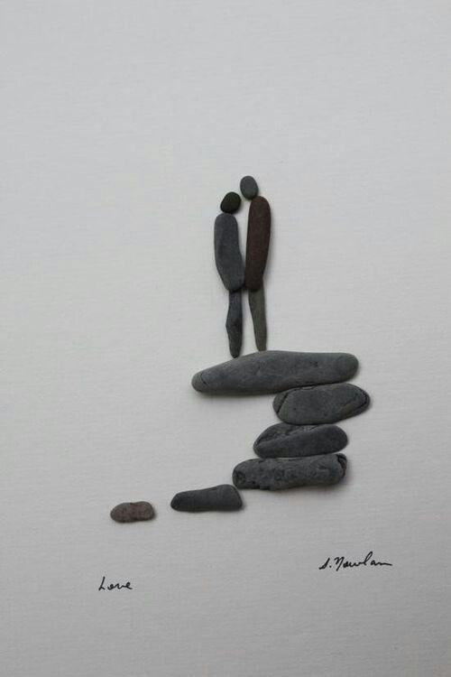 arte con piedras de rio - Buscar con Google