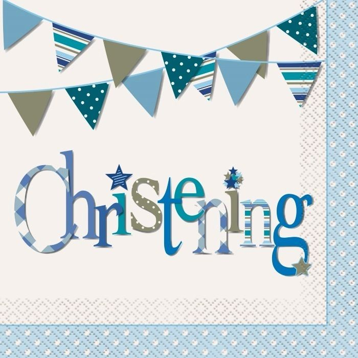 Christening Napkins | Baptism Party Supplies | Party Supplies and Decorations