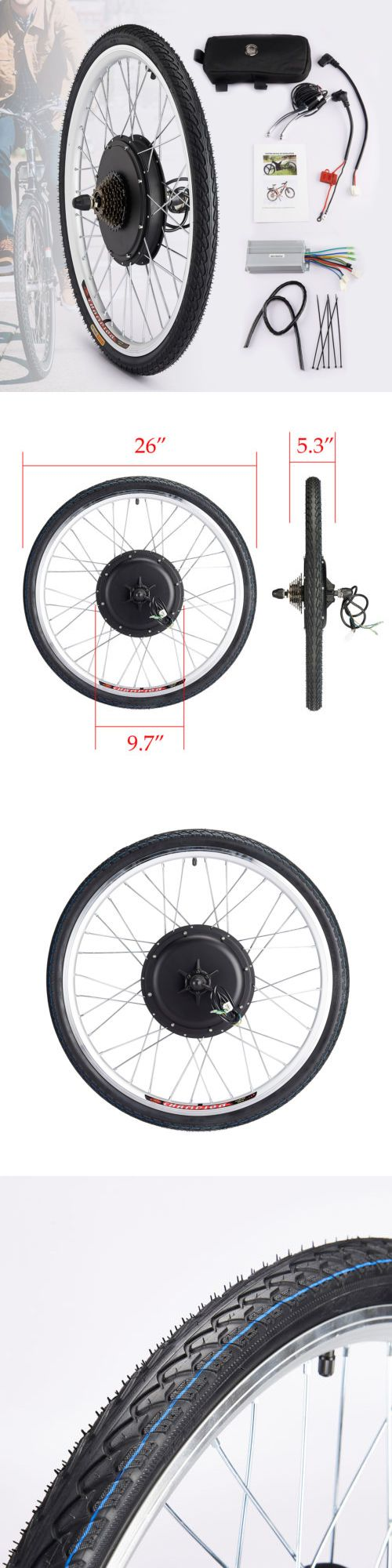 Electric Bicycle Components 177814: 36V 500W Electric Bike Conversion Kit For Rear Wheel Motor Hub Control -> BUY IT NOW ONLY: $145.99 on eBay!