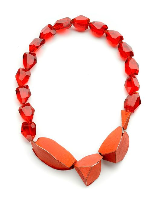 Lucia Massei  Necklace: Absolout red 2011  Red glass, silver, pigments