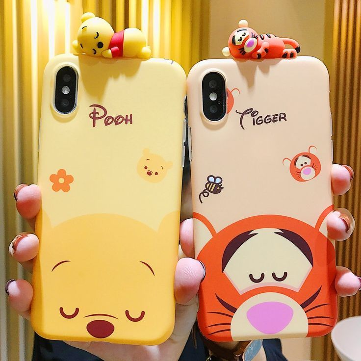 Kawaii Winnie und Tiger-Telefon-Kasten für iphone 6 / 6s / 6plus / 7 / 7plus / 8 / 8P / X / X…