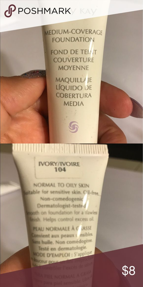 Mary Kay medium coverage foundation Mary Kay medium coverage foundation in color ivory 104 for normal to oily skin. Safe for sensitive skin. Thanks for checking out Luxury1cosmetics!! Offers are welcomed, bundles are discounted. Mary Kay Makeup Foundation
