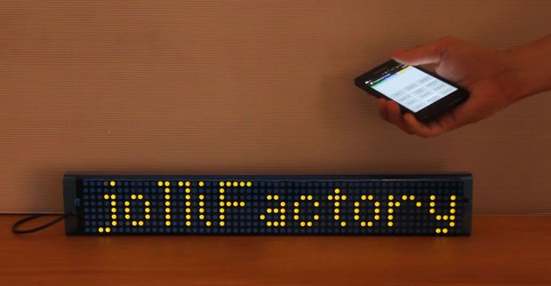 Picture of 7 Bi-color LED Matrix Scrolling Text Display