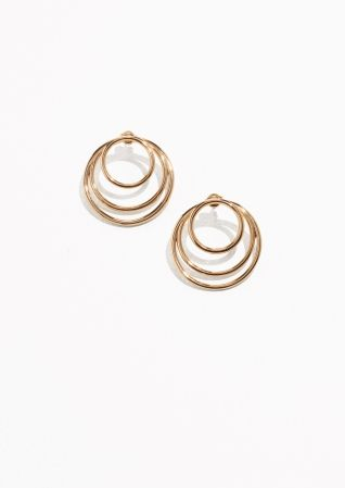 & Other Stories Loop Hoop Studs in Gold