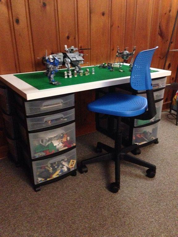 20 Diy Boys Lego Table Design Ideas With Storage Lego Table Diy