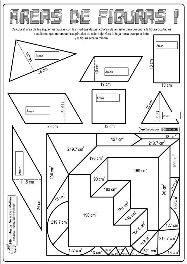 areas de figuras
