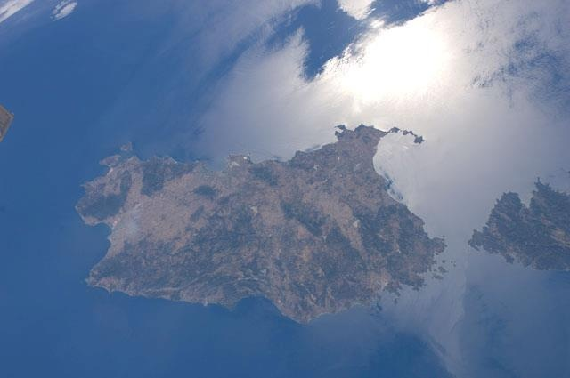 """Sardinia... seen from Space   La Sardegna... vista dallo Spazio    Photo by: Image Science and Analysis Laboratory, NASA-Johnson Space Center. """"The Gateway to Astronaut Photography of Earth"""