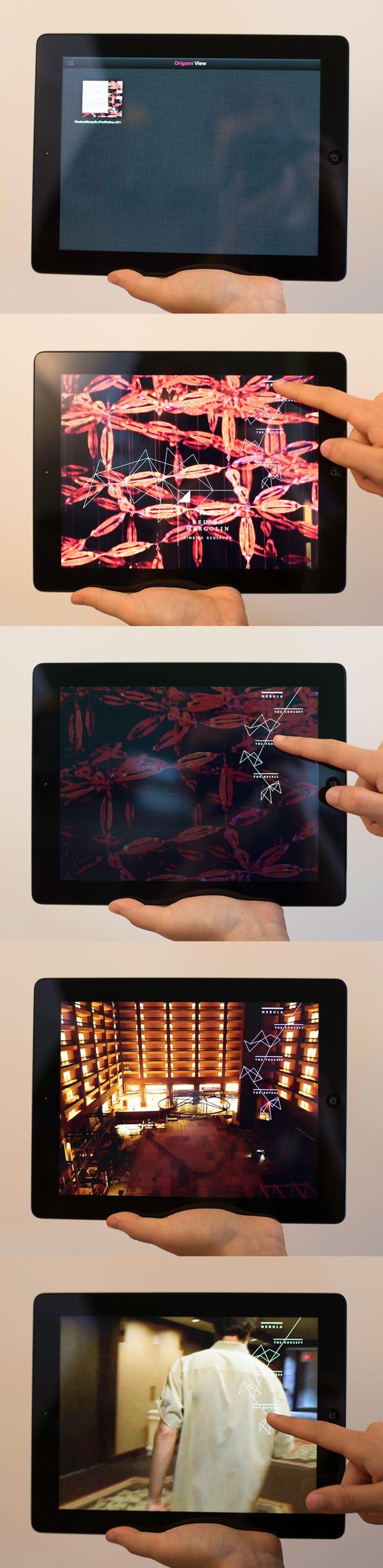 Movement Magazine // Origami Design on App Design Served