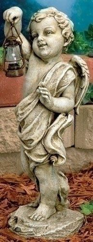 "17"" Joseph's Studio Cherub Outdoor Garden Statue with Solar Powered Lantern by Roman. $84.99. Save 15% Off!"
