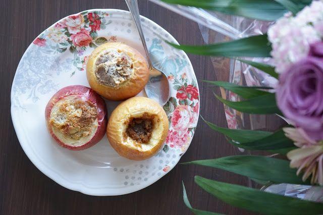 The Cook Time: Trio de pommes au four (spéculoos/miel, amandes/sirop d'érable, noisettes/crème de marrons)