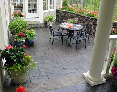 find this pin and more on concrete patio ideas - Concrete Patio Designs